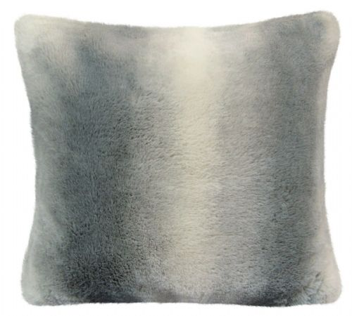 Luxury Faux Fur Sofa Scatter Cushion Super Soft Arctic Cosy Cuddly Feel, 56cm x 56cm, Nebraska Grey